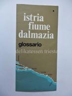 ISTRIA FIUME DALMAZIA Glossario Nomi Italiano Croato Sloveno Irredentismo - Libri, Riviste & Cataloghi