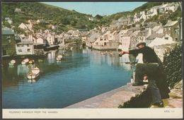 Polperro Harbour From The Warren, Cornwall, 1953 - Jarrold Postcard - England
