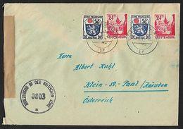 1946/1947 - DEUTSCHLAND/WÜRTTEMBERG [Französische Zone] - Cover + Michel 9+8 + CENSORSHIP - Zone Française