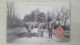 CPA 77- ENVIRONS DE PARTHENAY- ATTELAGE DE BOEUFS- - Parthenay