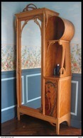 Armadietto Art Neuveau Francese - Autore Leon Benouville - 1895/1900 - Dimensioni Cm 104 X 42 Altezza 230 - Mobili