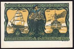 AK Dortmund Marine-Ausstellung Deutschen Flottenverein 1900 Fr.W. Ruhfus  (16932 - Sin Clasificación