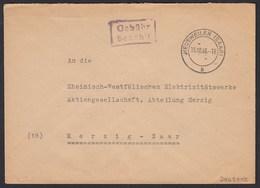 Heusweiler Saar 1946 Bedarfsbrief Nach Merzig Gebühr Bezahlt    (20275 - Sellos