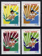 Yemen Democratic Republic, 1979, International Year Of The Child, IYC, United Nations, MNH, Michel 234-237 - Yemen