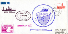 South Africa Paquebot Cover Cape Town Posted At Sea 10-11-1983 RS/NS Africana 13 Voyage With A Lot Of Postmarks - Covers & Documents