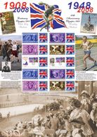 Great Britain 2008, 100th Olympic Games In London, Stamp On Stamp, Athletic, Sheetlet, LIMITED EDITION - Summer 1908: London