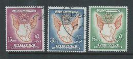 Sudan 1956 Independence Day Map & Sun Set 3 FU - Sudan (1954-...)