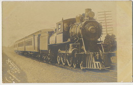 Real Photo Harrisburg Flyer At Somerville N.J. Close Up Train - Etats-Unis