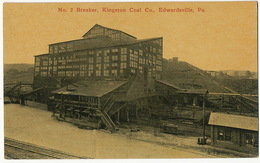 No 2 Breaker Kingston Coal Co Mines Edwardsville Pa. - Etats-Unis