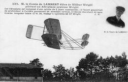 M.le Comte De Lambert ,élève De Wilbur Wright, Pilotant Un Aéroplane Système Wright  -  CPA - ....-1914: Vorläufer