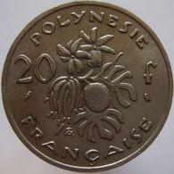French Polynesia 20 Francs 1972 XF/UNC - Polynésie Française