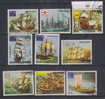 Paraguay 1980 Sailing Ships 9v Used Cto (38099D) - Paraguay