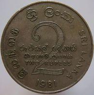 Sri Lanka 2 Rupees 1981 Mahaweli VF - Sri Lanka