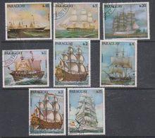 Paraguay 1976 Sailing Ships 8v Used Cto (38101E) - Paraguay