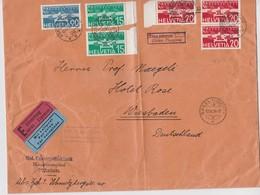 SUISSE 1934 PLI AERIEN DE ZURICH EN EXPRES AVEC TAXE DE 40 PF - Brieven En Documenten