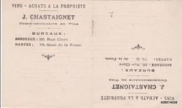 BUVARD   J. CHASTAIGNET 21cm X 12  Cm - Liquor & Beer