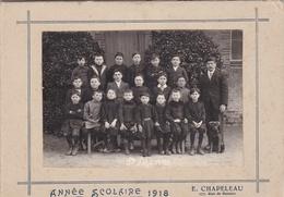 """SAINTE-PAZANNE  -  Cliché D'Ecole Collé Sur Carton De 1918 - Photographe """"E. Chapeleau"""" 177 Rue De Renne, Nantes - Otros Municipios"""