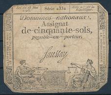 FRANKREICH - ASSIGNAT - 1793 , 50 SOLS - Assignate