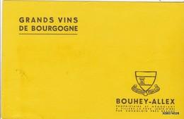 BUVARD GRAND VINS DE BOURGOGNE BOUHEY ALLEX   21 Cm X 13  Cm - Liquor & Beer