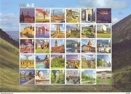 Great Britain 2012 UK A-Z Sheet Of 26 Val (scarce) Retail £ 99,5 - 1952-.... (Elisabetta II)