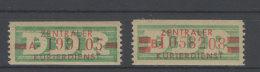 DDR Dienst Gruppe B Michel No. 30 - 31 II ** Postfrisch - DDR