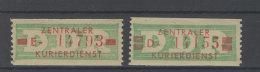 DDR Dienst Gruppe B Michel No. 30 - 31 I ** Postfrisch - DDR
