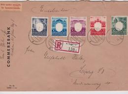ALLEMAGNE  GENERAL GOUVERNEMENT 1943 LETTRE RECOMMANDEE DE KRAKAU AVEC CACHET ARRIVEE LEIPZIG - Ocupación 1938 – 45
