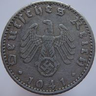 Germany 50 Reichspfennig 1941 J F/VF - 50 Reichspfennig