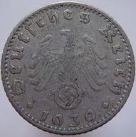 Germany 50 Reichspfennig 1939 E VG/F - 50 Reichspfennig