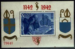 Belgie 1942 - Orval Blok - OBP BL18 - Blocks & Kleinbögen 1924-1960