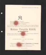HOULTEAU CHAINEUX HERVE 1929 Mme THEOPHILE RAACK Née MARIE SORTET - Overlijden
