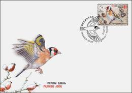 Belarus 2018 Bird Of The Year Goldfinch FDC - Belarus