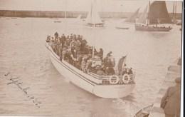 "Carte PHOTO 1925 BATEAU ""DREAM"" A GRANVILLE - Granville"
