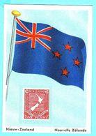 Flags & Stamps - 73 - Nieuw-Zeeland, Nouvelle Zelande, New Zealand - Chromos