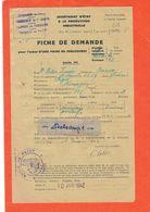 FAYET (Aisne)- Fiche Jaune De Demande Pour L'achat D'une Paire De Chaussures-rationnement- - Documentos Históricos