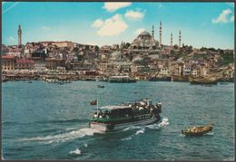 The Golden Horn And Mosque Of Soliman The Magnificent, Istanbul, C.1970s - Caddesi Postcard - Turkey