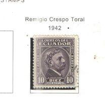 Ecuador PA 1942 Crespo Taral Scott.C97+ See Scans On Scott.Page - Ecuador
