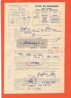PONTRU (Aisne)- Fiche Blanche De Demande Pour L'achat D'une Paire De Chaussures -rationnement- - Documentos Históricos