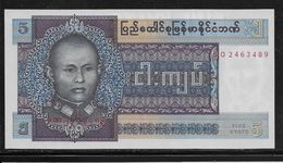 Birmanie -  5 Kyats - Pick N°57 - Neuf - Autres - Asie