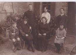 Carte PHOTO Vers 1910 Lerein 42 Rue Carnot Photographe LA FLECHE : Cour De Maison,école Ou Presbytère ? - La Fleche