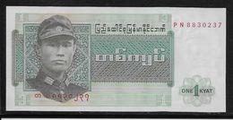 Birmanie -  1 Kyat - Pick N°56 - Neuf - Billets