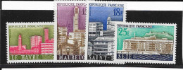SERIE N° 1152 A 1155  - FRANCE -  - Villes Reconstruites  - 1958  NEUF EXTRA - Francia