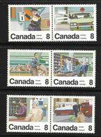 CANADA 1974 SERVICE DU COURRIER  YVERT N°534/39  NEUF MNH** - 1952-.... Elizabeth II