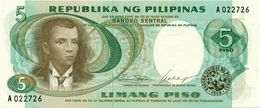 PHILIPPINES 5 PESOS ND (1969) P-143a UNC  SIGN. MARCOS & CALALANG [PH1002a] - Philippines
