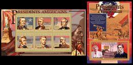 GUINEA 2010 - C. Arthur, Sitting Bull - YT 5326-31 + BF1176; CV = 30 € - Indiens D'Amérique