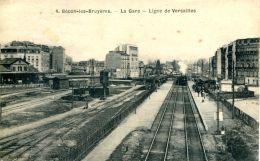 N°58 A -cpa Bécon Les Bruyères -la Gare -ligne De Versailles- - Stazioni Con Treni