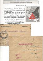 POLOGNE 2 Formulaires Prisonnier Belge Camp Disciplinaire De Rawa Ruska Ou Camp 325 -1942/3 - WW II