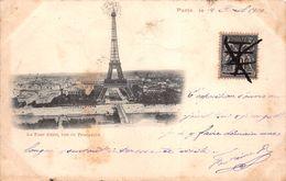 ¤¤  -  PARIS   -  La Tour Eiffel , Vue Du Trocadéro En 1900  -  Oblitération   -  ¤¤ - Arrondissement: 16
