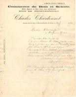38 BEAUREPAIRE Isère COURRIER 1910 Commerce De Bois Et Scierie Bois De Construction Charles CHARDONNET -  A36 - 1900 – 1949