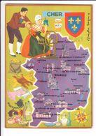 CP N° 4 - Les Départements Français Vus Par Iris : CHER - France